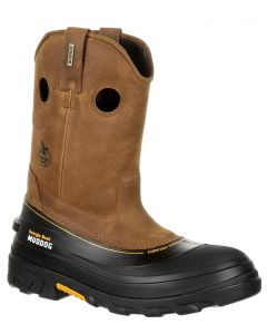 Georgia Boot Men's Muddog CT WP Work Wellington Barracuda Gold