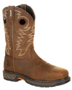 Georgia Boot Men's Carbo-Tec Alloy Toe WP Pull-On Brown