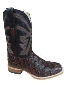 Cowtown Boots Men's Fish Scale Boot Brown