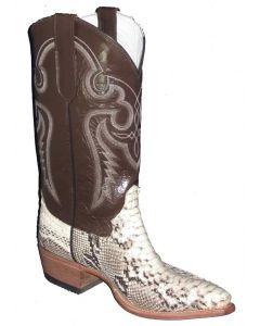 Cowtown Boots Men's Python Backcut Grey-Black