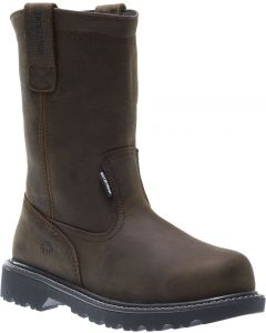 Wolverine Men's Floorhand WP 10 Inch Wellington Dark Brown