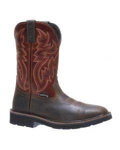 Wolverine Men's Rancher Steel-Toe Wellington Rust Brown