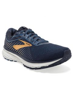 Brooks Men's Ghost 12 Navy Deep Water Gold
