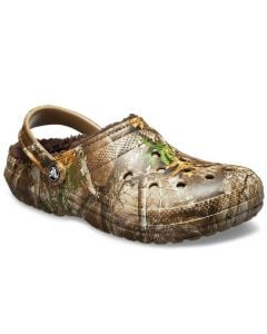 Crocs Men's Classic Fuzz Lined Clog Realtree Chocolate