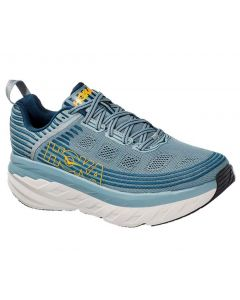 Hoka One One Men's Bondi 6 LEAD   MAJOLICA BLUE