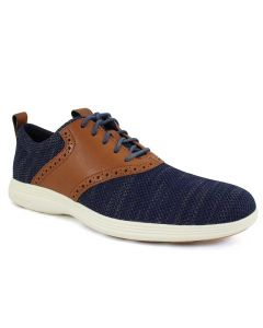 Cole Haan Men's Grand Tour Knit Oxford Blue Ivory