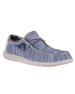 Hey Dude Men's Wally Sox Steel Blue