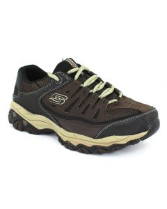 Skechers Mens After Burn Memory Fit Brown Taupe
