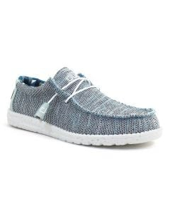 Hey Dude Men's Wally Sox Ice Grey