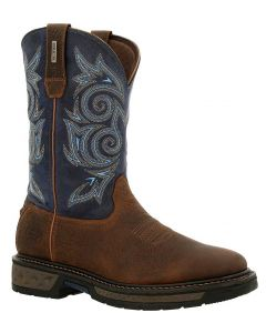 Georgia Boot Men's 11 Inch Carbo-Tec LT WP Pull-On Brown Navy