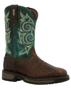 Georgia Boot Men's 11 Inch Carbo-Tec LT WP Gator Green