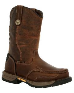 Georgia Boot Men's 11 Inch Athens 360 WP Pull-On Brown
