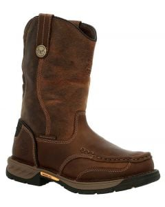 Georgia Boot Men's 11 Inch Athens 360 WP ST Pull-On Brown
