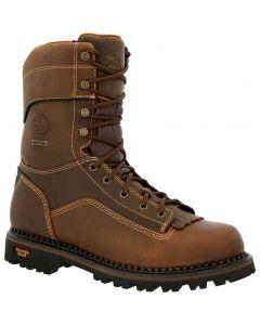 Georgia Boot Men's 9in Lo Heel Logger Crazy Horse Brown