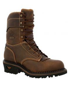Georgia Boot Men's AMP LT 9in Logger Boot Brown