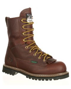 Georgia Boot Men's 8 Inch ST WP Lace-To-Toe Dark Brown