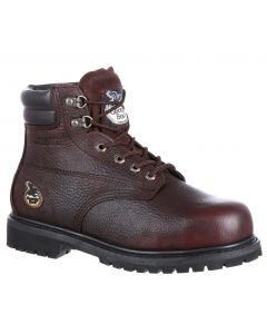 Georgia Boot Men's 6 Inch ST WP Oiler Dark Brown