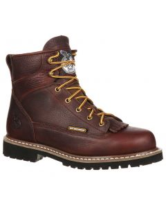 Georgia Boot Men's 6 Inch ST WP Lace-To-Toe Dark Brown