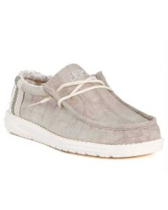 Hey Dude Men's Wally Linen Natural Khaki