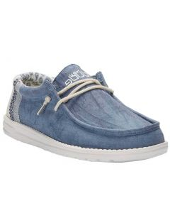 Hey Dude Men's Wally Linen Natural Blue