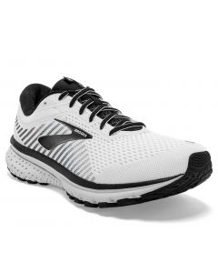 Brooks Men's Ghost 12 White-Grey-Black