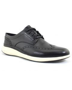 Cole Haan Men's Grand Troy Wingtip Oxford Black Ivory