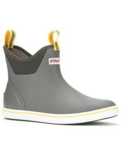 XTRATUF Men's 6 Inch Ankle Deck Boot Gray Yellow