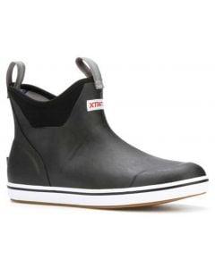 XTRATUF Men's 6 Inch Ankle Deck Boot Black