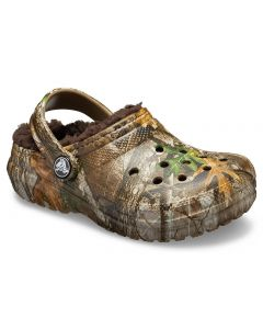 Crocs Kids Classic Realtree Edge Lined Khaki