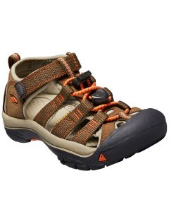 KEEN Kids Newport H2 Dark Earth Spicy Orange
