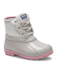 Sperry Kids Port Boot Grey Sparkle