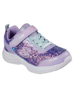Skechers Kids Glimmer Kicks Glitter N' Glow Lavender Aqua