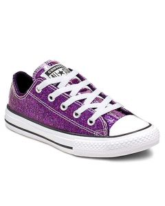 Converse Kids All Star Gloss Ox Grand Purple Black White