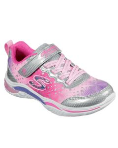 Skechers Kids S Lights Power Petal Painted Daisy Silver Pink