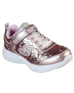 Skechers Kids Glimmer Kicks Glitter N' Glow Gold Pink