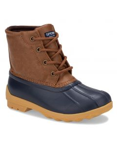 Sperry Kids Port Duck Boot Tan Navy