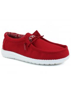 Hey Dude Kids Wally Youth Red