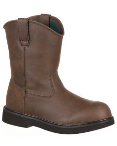 Georgia Boot Kids 7 Inch Pull-On brown