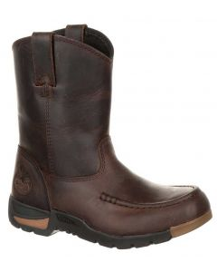 Georgia Boot Kids 7 Inch Athens Pull-On Dark Brown