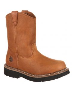 Georgia Boot Kids 6 Inch Wellington Tan