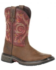 Georgia Boot Kids Carbo-Tec LT Brown Red