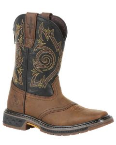 Georgia Boot Kids Carbo-Tec LT Brown Black