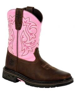 Georgia Boot Kids Carbo-Tec LT Brown Pink