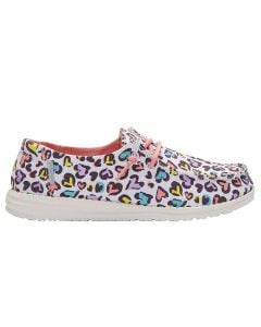 Hey Dude Kids Wendy Youth White Leopard