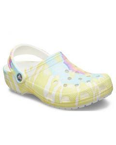 Crocs Kids Classic White Tie Dye