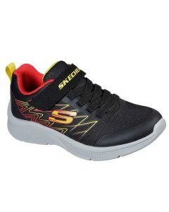 Skechers Kids Microspec Texlor Black Red