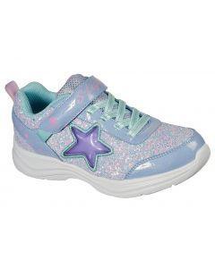 Skechers Kids Glimmer Kicks Starlet Shine Lavender Aqua
