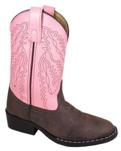Smoky Mountain Boots Kids Monterey Western Boot Brown Pink