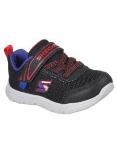 Skechers Sport Kids Comfy Flex Mini Trainers Black Red Blue