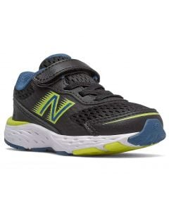 New Balance Toddlers 680v6 Black With Oxygen Blue